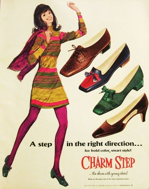 Charm Step shoe advertisement